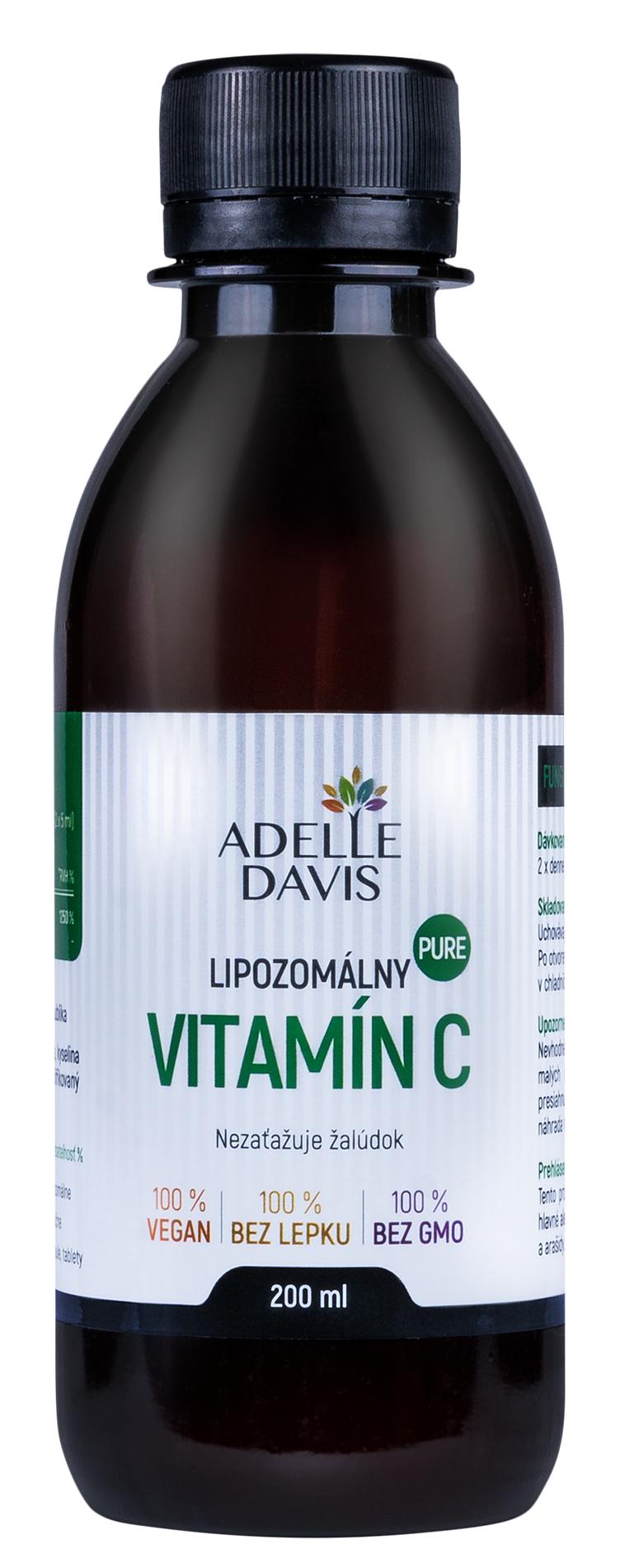 Adelle Davis - Lipozomálny vitamín, C 200 ml, veľmi čistý