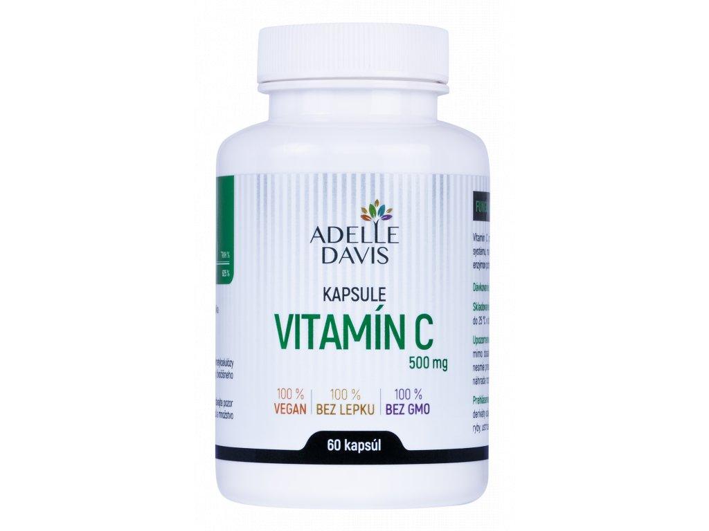 Adelle Davis - Vitamín C, 500 mg, 60 kapsúl