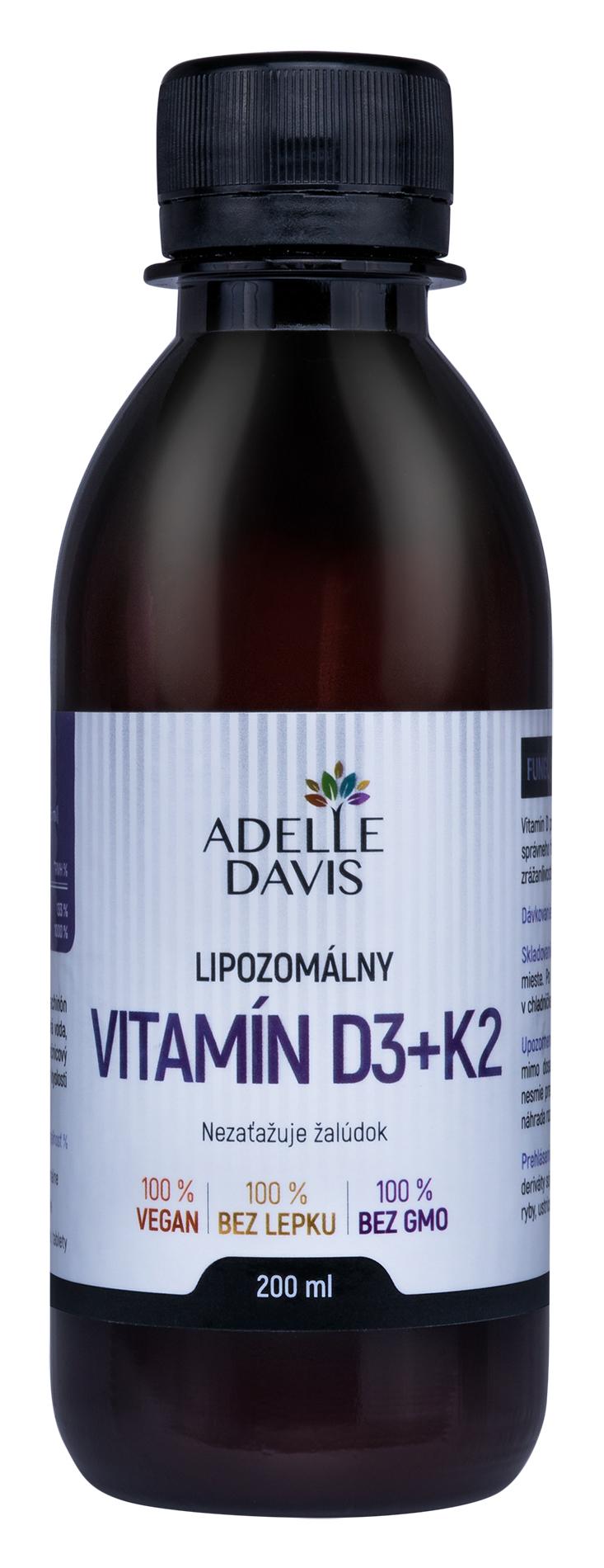 Adelle Davis Lipozomálny vitamín D3+K2 200ml