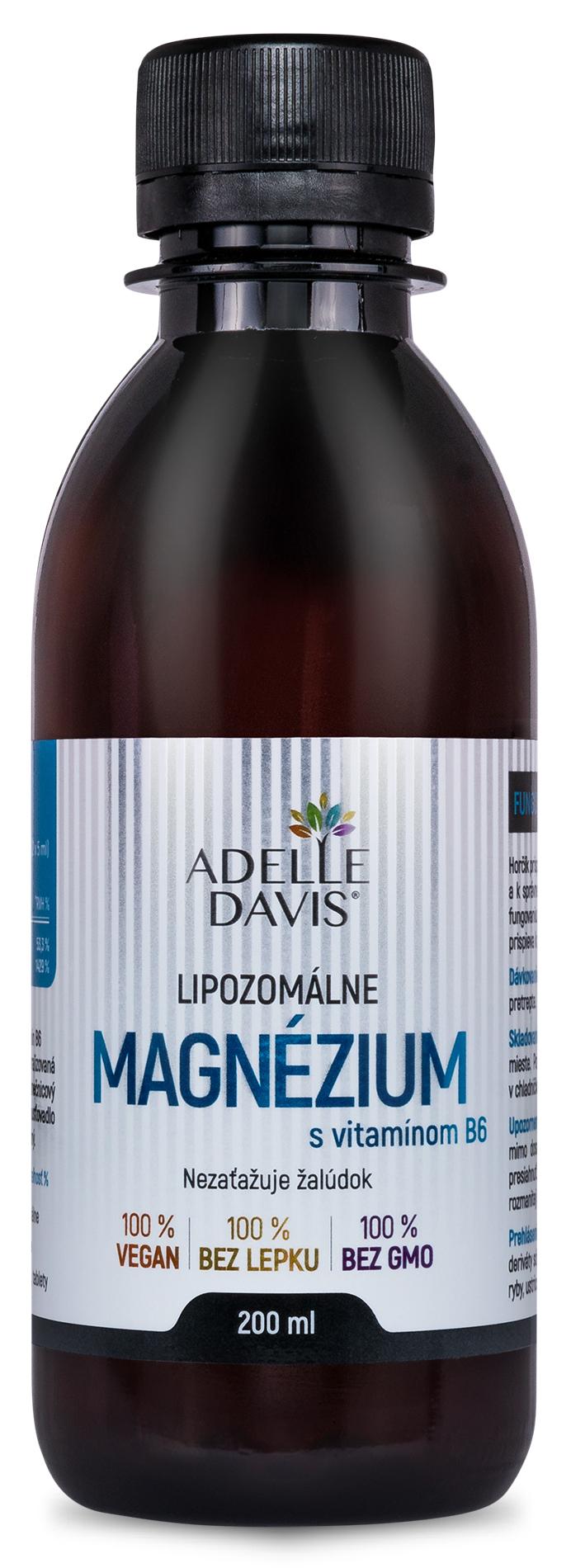 Adelle Davis - Lipozomálne magnézium s vitamínom B6, 200 ml
