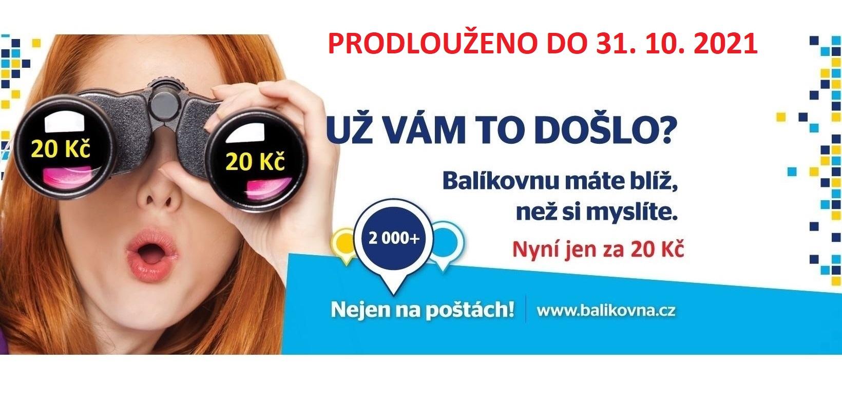AKCE Balíkovna za 20,- Kč