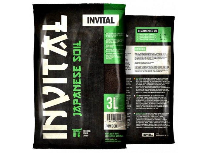 INVITAL Japanese Soil 3l Powder hnědý japonský substrát  (dříve Platinum Soil)