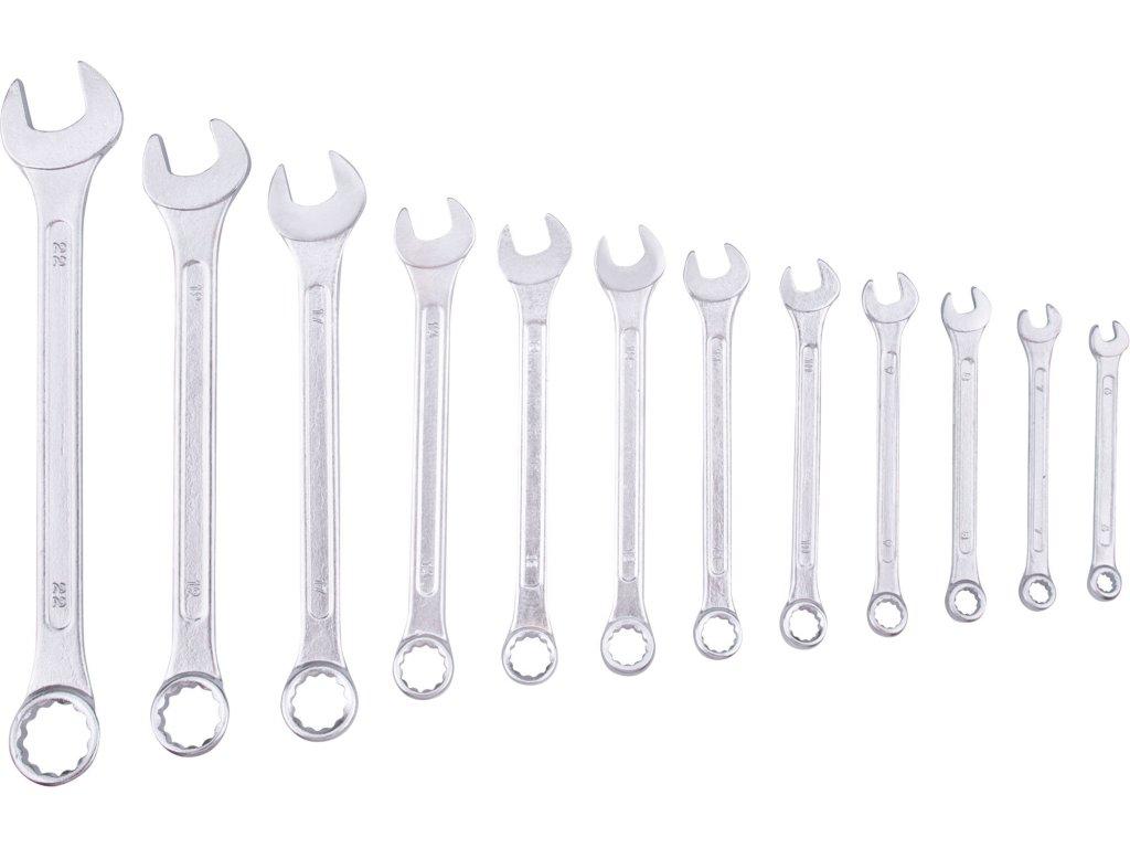 klíče očkoploché, sada 12ks, 6-22mm