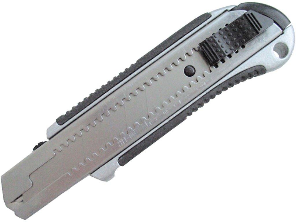 nůž ulamovací kovový s kovovou výztuhou, 25mm, Auto-lock