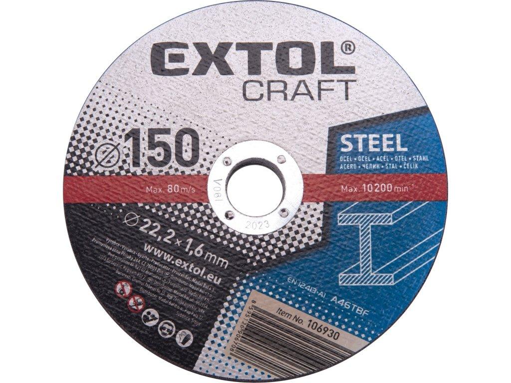 kotouče řezné na kov, 5ks, O 150x1,6x22,2mm