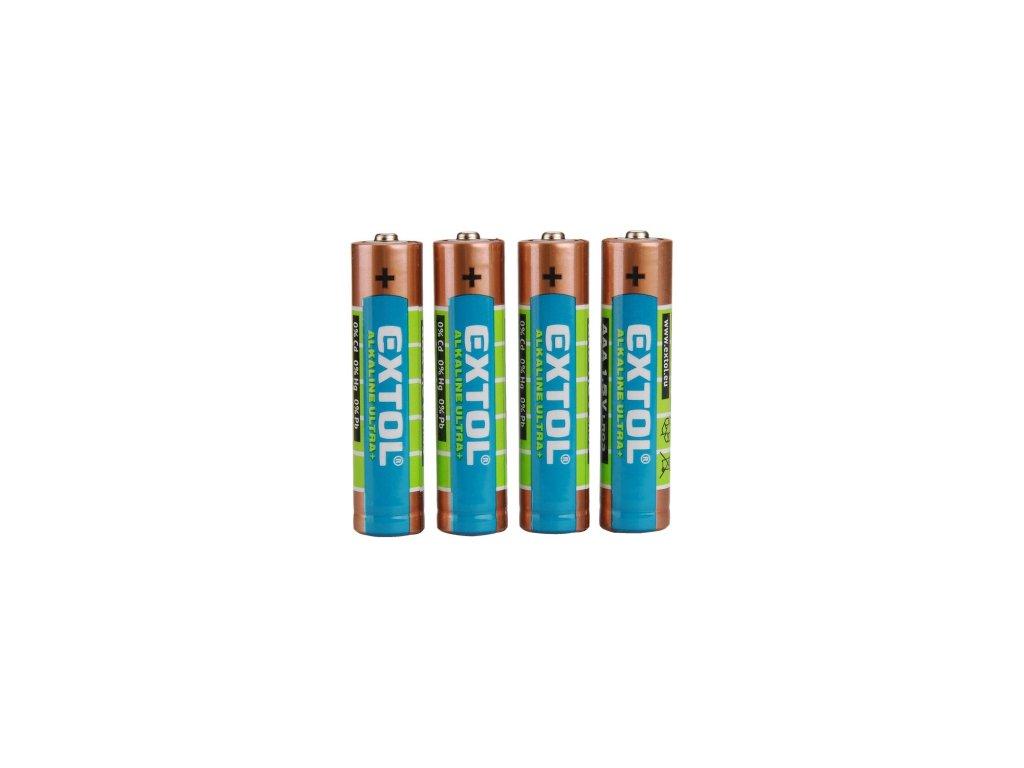baterie alkalické, 4ks, 1,5V AAA (LR03)