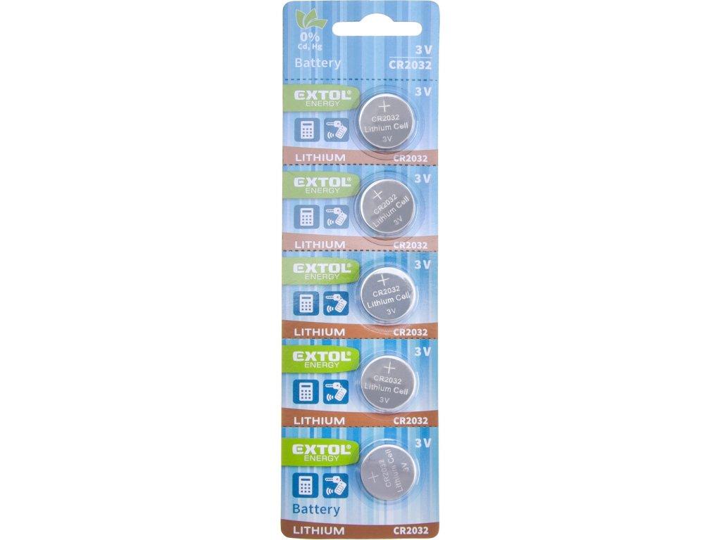baterie lithiové, 5ks, 3V (CR2032)