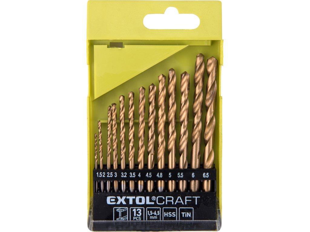 vrtáky do kovu, sada 13ks, O 1,5-6,5mm, HSS