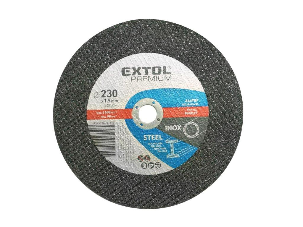 kotouč řezný na ocel/nerez, O 230x1,9x22,2mm