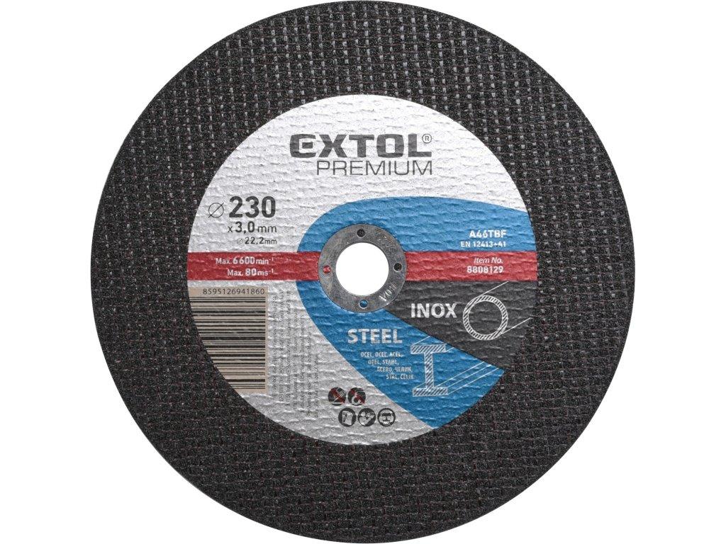 kotouč řezný na ocel/nerez, 230x3,0x22,2mm