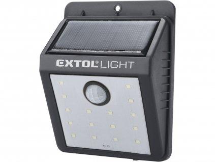 světlo nástěnné s pohybovým čidlem, 120lm, solární nabíjení