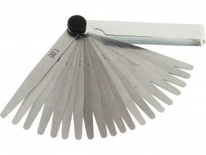 měrky spárové, 20ks, 0,05-1mm, max. odchylka +-4-24μm