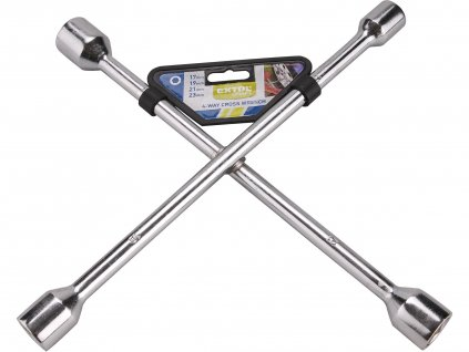 klíč křížový na kola, 17-19-21-23mm