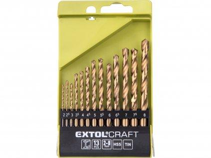 vrtáky do kovu, sada 13ks, O 2-8mm, po 0,5mm, HSS