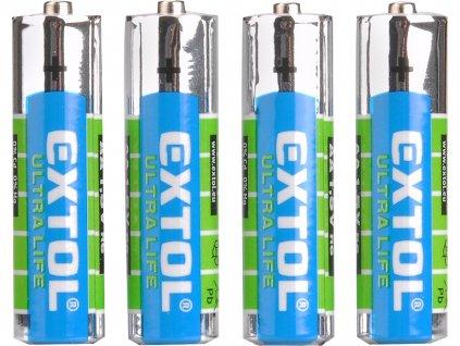 baterie zink-chloridové, 4ks, 1,5V AA (R6)