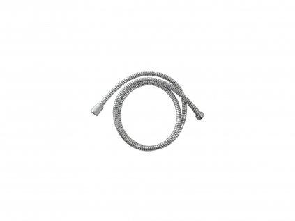 hadice sprchová, černo/stříbrná, 150cm, rotační, PVC