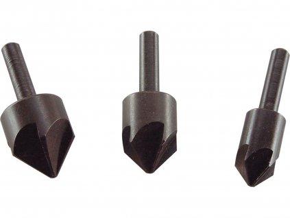 záhlubníky do vrtačky 90°, sada 3ks, O 12-16-19mm