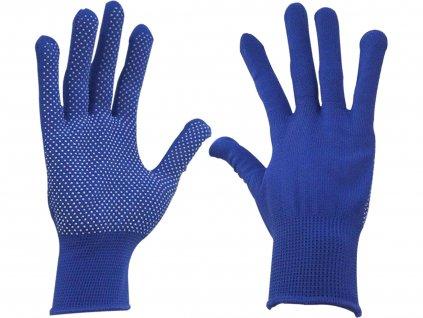 """rukavice z polyesteru s PVC terčíky na dlani, velikost 10"""""""