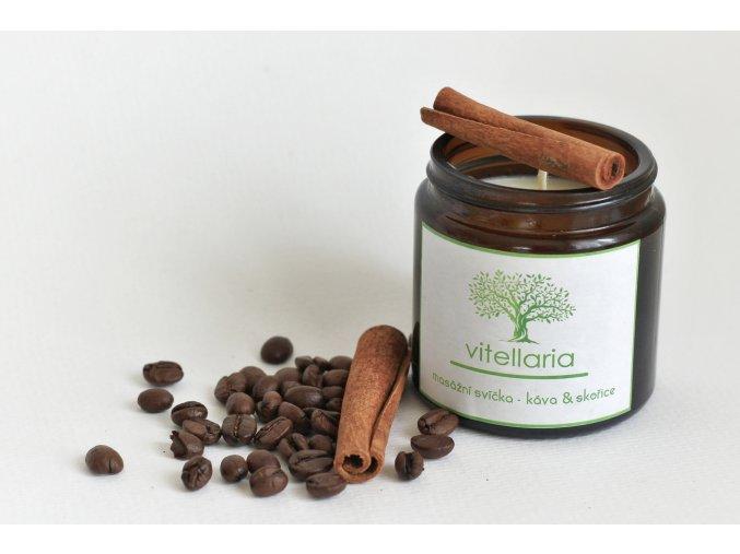 Masážní svíčka - káva & skořice