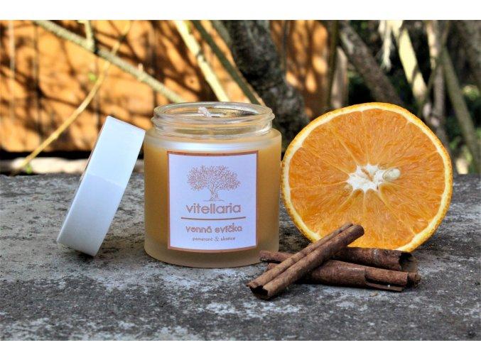 Vonná svíčka - pomeranč a skořice