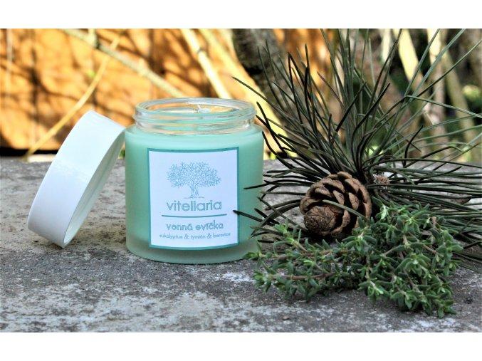 Vonná svíčka - eukalyptus, tymián a borovice