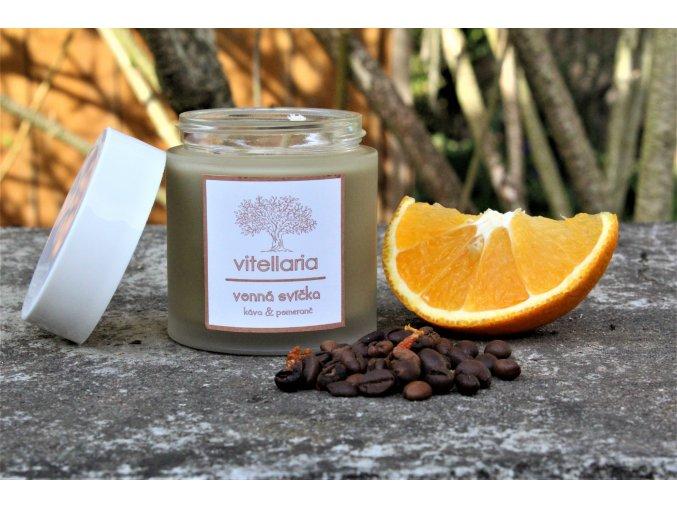 Vonná svíčka - káva a pomeranč