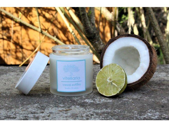 Vonná svíčka - kokos a limetka