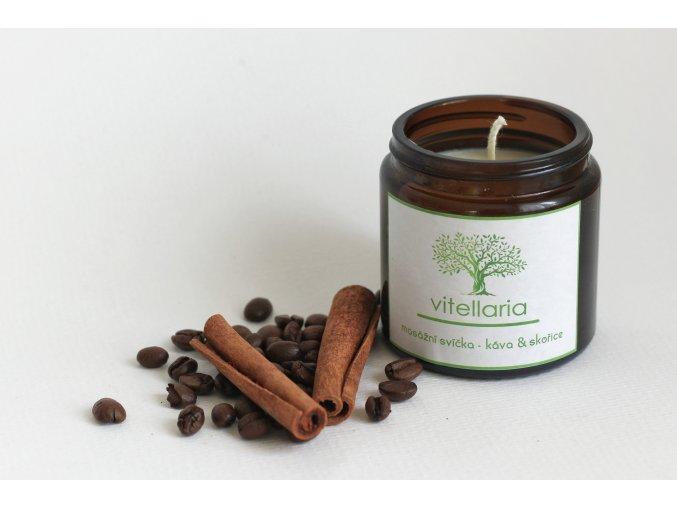 Masážní svíčka káva&skořice - VÝPRODEJ