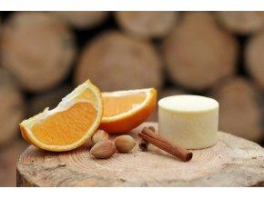 Tuhý tělový krém - pomeranč & skořice