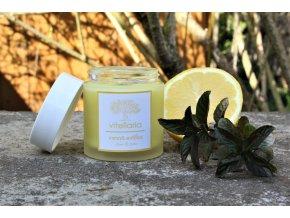 Vonná svíčka - máta a citron