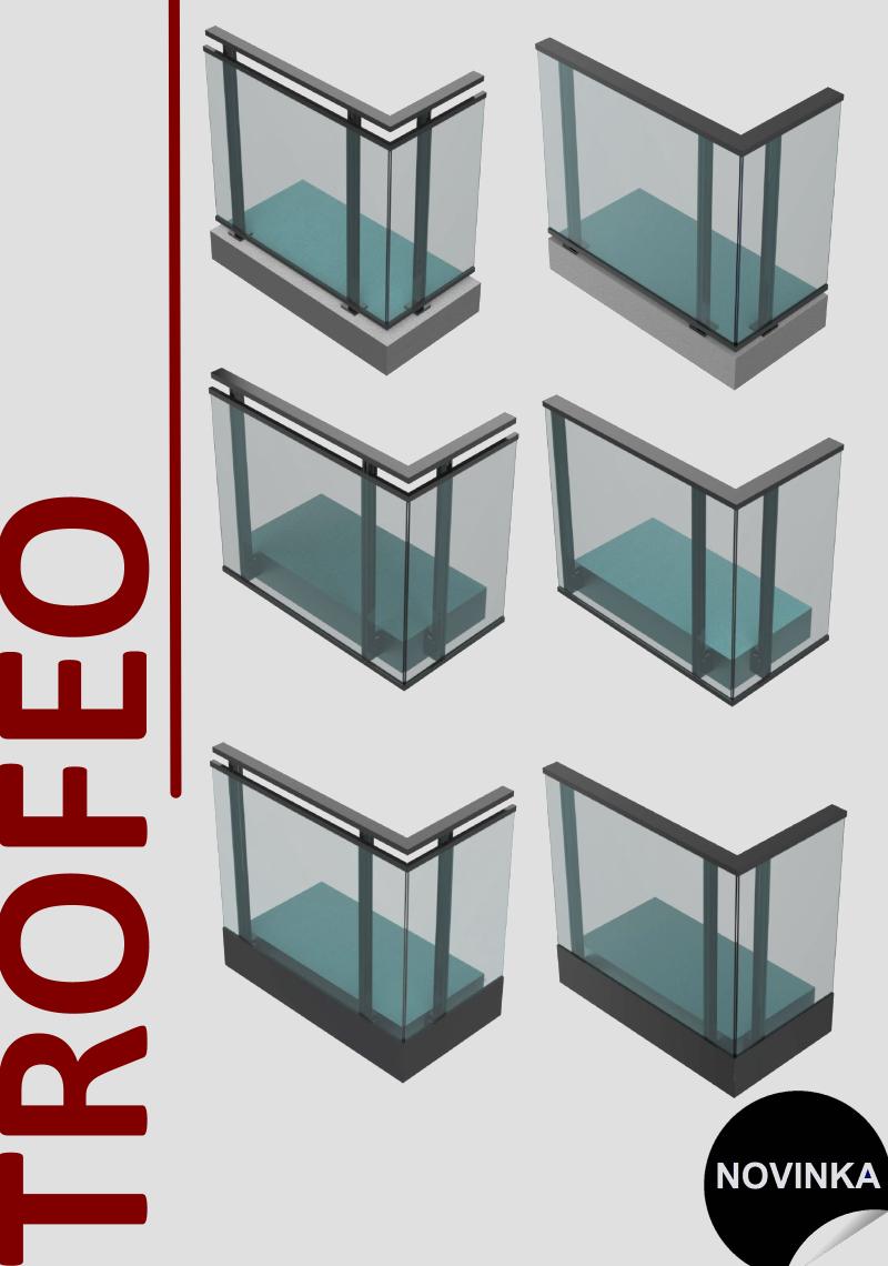 Systémové hliníkové zábradlí TROFEO 1-1