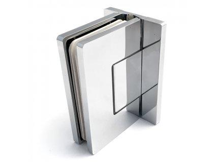 Závěs nastavitelný (sklo-zeď 90°-T)