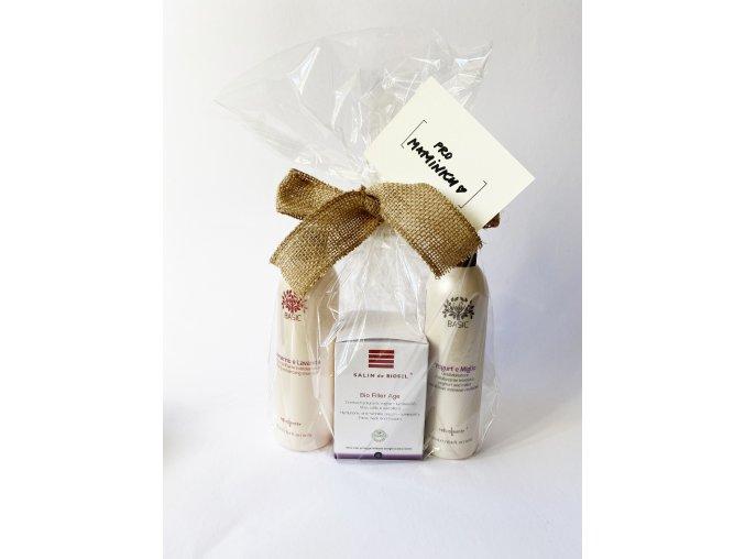 Balíček pro maminku (anti-age krém, detoxikační šampon a vyživující kondicionér)