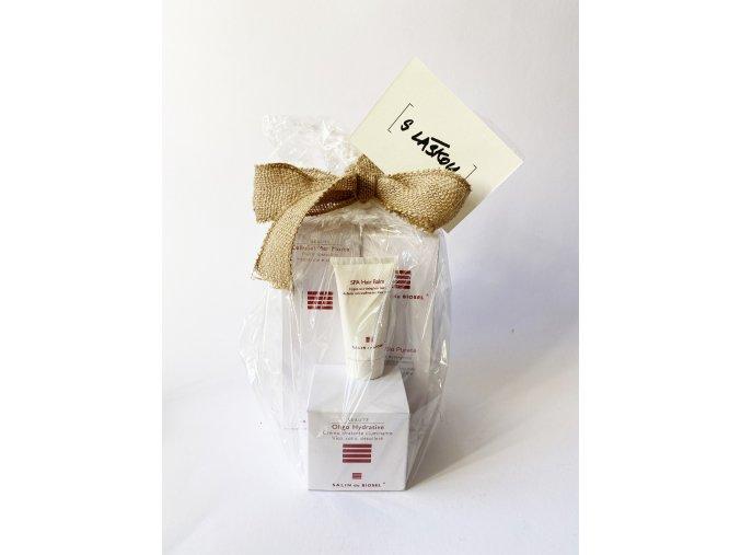 Balíček S láskou k produktům Salin de Biosel (odvodňující tělový krém, pleťové mléko, hydratační krém, cestovní balzám na vlasy)