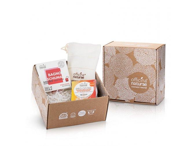 coso gift box botta di vita bagnoschiuma solido rivitalizzante deo coso brioso e guanto salva coso