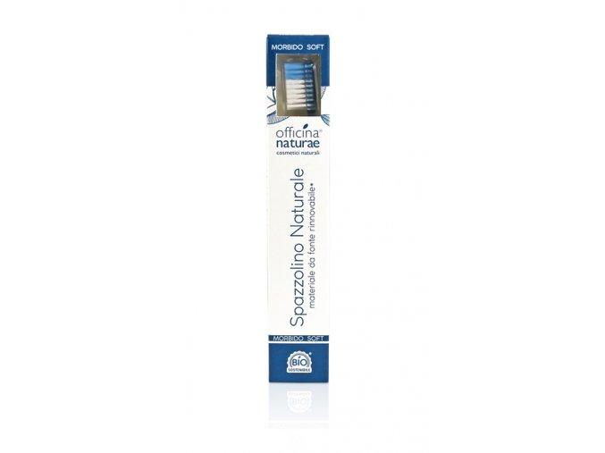 spazzolino azzurro eco sostenibile made in italy morbido 2