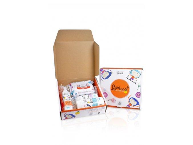 gift box prime coccole biricco 0 salviette crema delicata bagnetto amido di riso