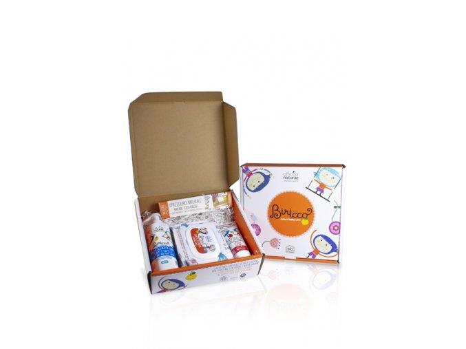 gift box baby cherry dentifricio ciliegia spazzolino baby salviette e bagnoschiuma corpo e capell