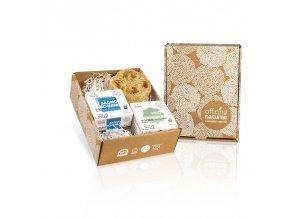 gift box body bagnoschiuma solido vellutante detergente solido viso delciato e barattolo porta coso