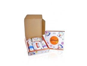 gift box baby biricco 6m bagnoschiuma crema corpo salviette 20 pz e saponetta