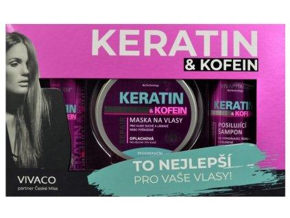 DÁRKOVÁ KAZETA KERATIN A KOFEIN /dámská/