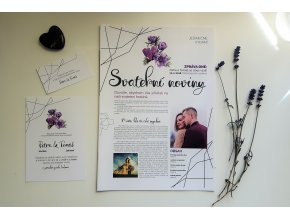 svatební noviny geometric flower