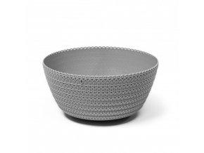plastovy kvetinac bowl jersey 300 mm sedy