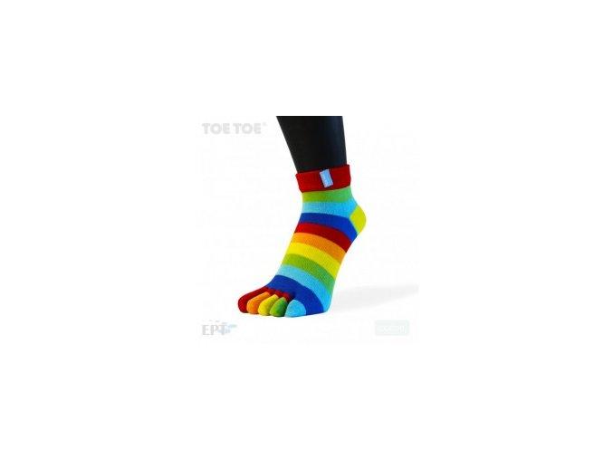 6559 rainbow stripy anklet 35 46