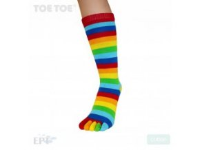 6553 rainbow ankle mid calf stripy 35 46