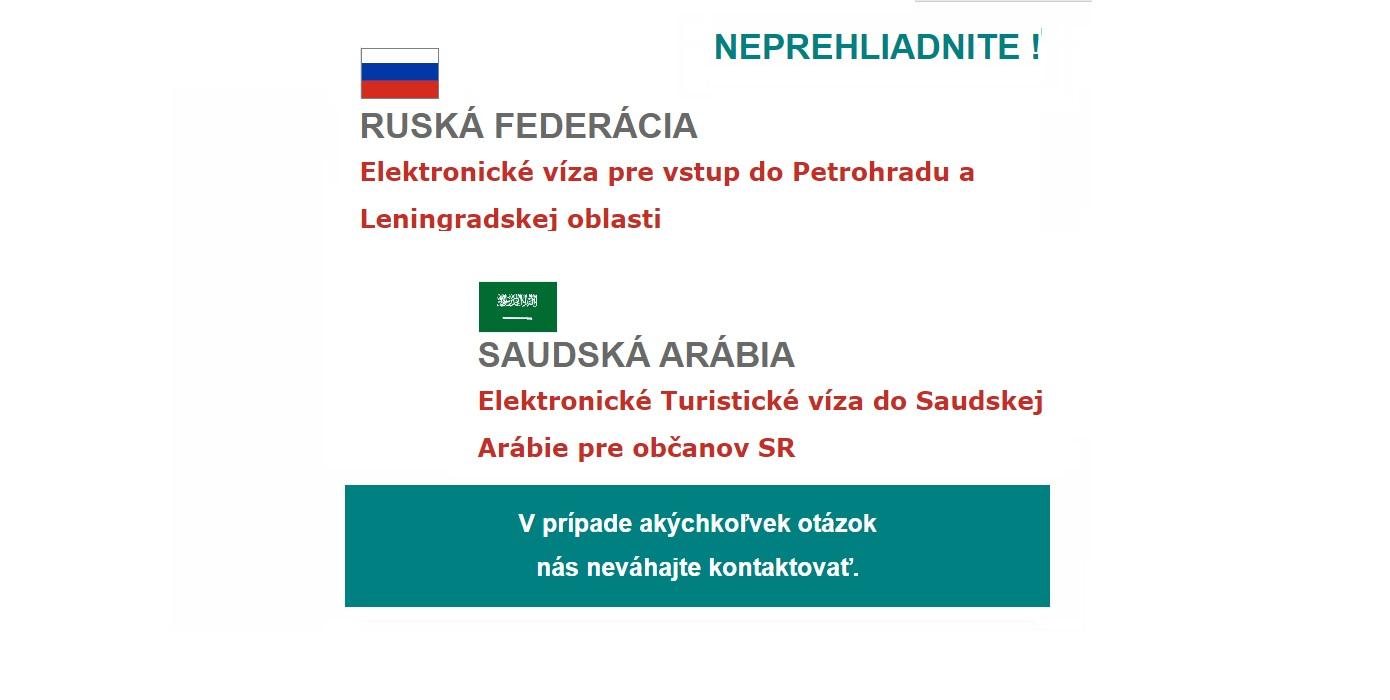 RUSKO a SAUDI elektronické víza