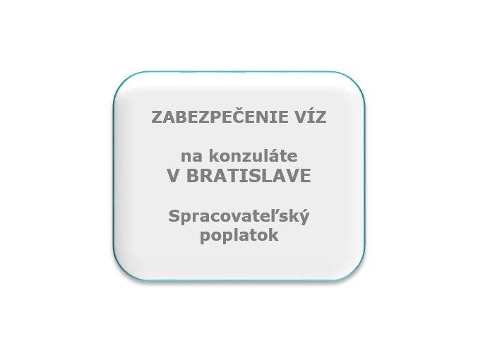 Spracovateľský poplatok, konzulát Bratislava
