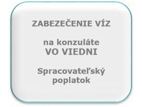 Spracovateľský poplatok na víza, konzulát Viedeň.