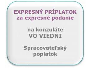Expresný príplatok za podanie, konzulát Viedeň.