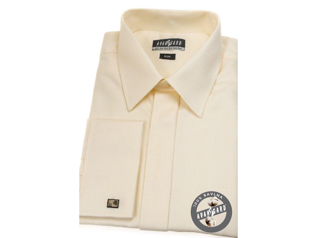 Pánská smetanová košile SLIM FIT ad1badae46